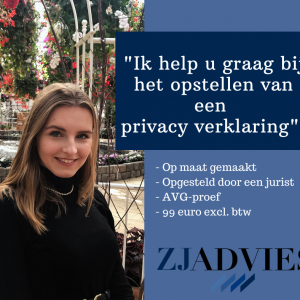Privacy verklaring laten opstellen door jurist